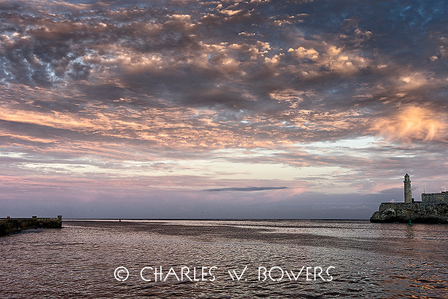 Sunrise over Havana harbor<br />