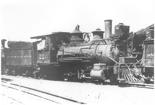 3/4 engineer's-side view of D&amp;RGW #226 in dead storage at Alamosa.<br /> D&amp;RGW  Alamosa, CO  Taken by Rogers, Donald E. A. - 7/28/1935