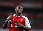 Arsenal's Eddie Nketiah in action during the premier league 2 match at the Emirates Stadium, London. Picture date 21st August 2017. Picture credit should read: David Klein/Sportimage