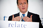 Pix: Shaun Flannery/shaunflanneryphotography.com...COPYRIGHT PICTURE>>SHAUN FLANNERY>01302-570814>>07778315553>>..10th December 2010...........Relate - The Prime Minister, David Cameron addresses a group at the Shine Centre in Leeds