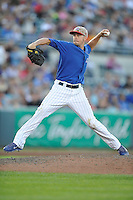 Chris Rusin #21 of the Iowa Cubs pitches against the Omaha Storm Chasers at Principal Park on July 2, 2014 in Des Moines, Iowa. The Cubs  beat Storm Chasers 4-3.   (Dennis Hubbard/Four Seam Images)