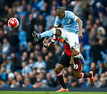 Fernandinho of Manchester City  during the Barclays Premier League match at The Etihad Stadium. Photo credit should read: Simon Bellis/Sportimage