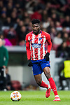 Thomas Teye Partey of Atletico de Madrid in action during the UEFA Europa League 2017-18 Round of 32 (2nd leg) match between Atletico de Madrid and FC Copenhague at Wanda Metropolitano  on February 22 2018 in Madrid, Spain. Photo by Diego Souto / Power Sport Images