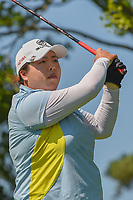 Shanshan Feng (CHN) watches her tee shot on 8 during round 2 of the 2018 KPMG Women's PGA Championship, Kemper Lakes Golf Club, at Kildeer, Illinois, USA. 6/29/2018.<br /> Picture: Golffile | Ken Murray<br /> <br /> All photo usage must carry mandatory copyright credit (© Golffile | Ken Murray)