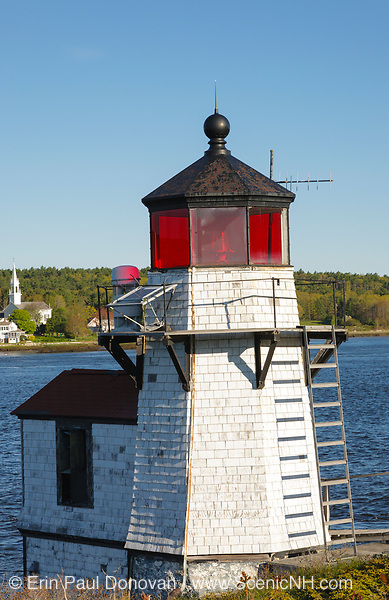 Squirrel Point Light on Arrowsic Island in Arrowsic, Maine. This light is located on the Kennebec River.