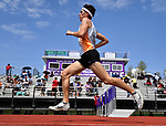 Edwardsville distance runner Roland Prenzler set a new meet record in the 3200 meter run at the Collinsville Invitational Boys Track & Field Meet on Saturday May 5, 2018. Tim Vizer | Special to STLhighschoolsports.com