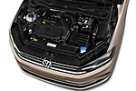 Car stock 2018 Volkswagen Golf Sportsvan Comfort Line  5 Door MPV engine high angle detail view