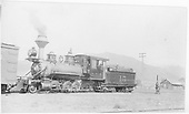 3/4 fireman's-side view of RGS 2-8-0 #15.<br /> RGS  Ridgway, CO  Taken by Virden, Walter - 1903-1910