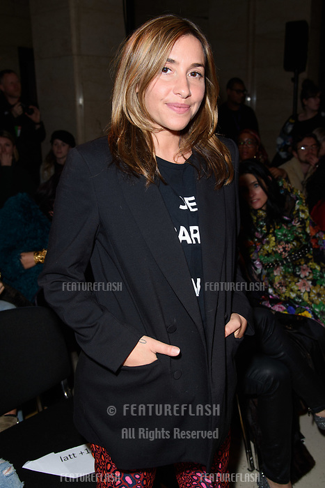 Melanie Blatt at the Pam Hogg show during London Fashion Week AW18, at the Freemasons' Hall in London, UK. <br /> 16 February  2018<br /> Picture: Steve Vas/Featureflash/SilverHub 0208 004 5359 sales@silverhubmedia.com