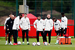 Manchester United players during the Manchester United open training session at the Carrington Training Centre, Manchester. Picture date: May 19th 2017. <br /> Pic credit should read: Matt McNulty/Sportimage