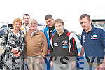 ACTION: Grace and Brendan Dennehy, Darragh Cashman, Fergus O'Connor, Garry Dineen and John McCarthy catching all the action at the Circuit of Kerry rally last Sunday.