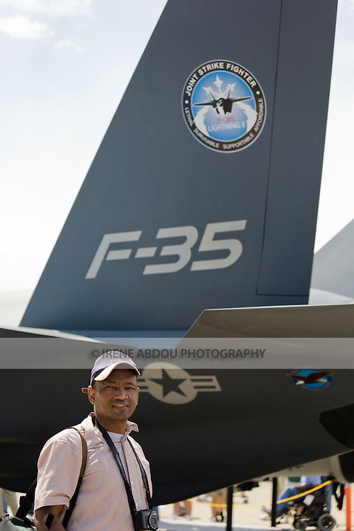 The 2008 Joint Service Open House at Andrews Air Force Base, Maryland, showcased a variety of old and new aircraft, such as this F-35 Joint Strike Fighter.
