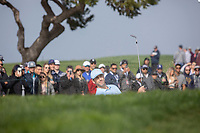 25th January 2020, Torrey Pines, La Jolla, San Diego, CA USA;  Chris Baker hits out of a bunker o the5th green during round 3 of the Farmers Insurance Open at Torrey Pines Golf Club on January 25, 2020