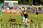 Daragh O'Brien for Stacks gets his pass away during the clash between Na Gaeil, who were at home last Saturday evening in Tralee.