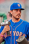 22 September 2018: New York Mets pitcher Daniel Zamora walks the dugout prior to the start of play against the Washington Nationals at Nationals Park in Washington, DC. The Nationals shut out the Mets 6-0 in the 3rd game of their 4-game series. Mandatory Credit: Ed Wolfstein Photo *** RAW (NEF) Image File Available ***