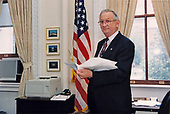 Charles Easley at work in the Eisenhower Executive Office Building in Washington, DC on June 19, 1996.<br /> Mandatory Credit: Sharon Farmer / White House via CNP