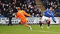 RANGERS' NIKICA JELAVIC SHOOTS PAST