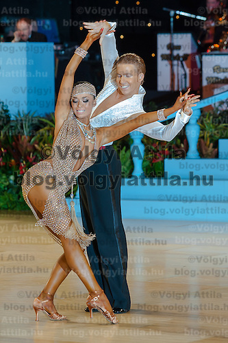 Neil Jones and Ekaterina Sokolova from the United Kingdom perform their dance during the Amateur Latin-american competition of the United Kingdom Open Dance Championships held in Bournemouth International Centre, Bournemouth, United Kingdom. Wednesday, 20. January 2010. ATTILA VOLGYI