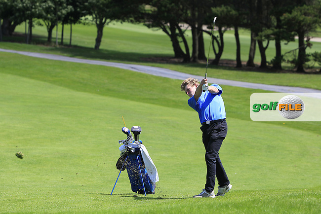 Hugh O'Hare (Fortwilliam) on the 16th fairway during Round 3 of the 2016 Connacht U18 Boys Open, played at Galway Golf Club, Galway, Galway, Ireland. 07/07/2016. <br /> Picture: Thos Caffrey | Golffile<br /> <br /> All photos usage must carry mandatory copyright credit   (&copy; Golffile | Thos Caffrey)