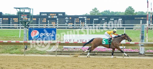 Leonides winning at Delaware Park on 7/14/12