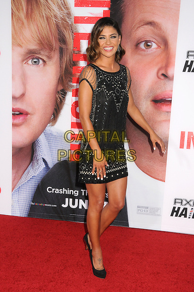 Jessica Szohr<br /> &quot;The Internship&quot; Los Angeles Premiere held at the Regency Village Theatre, Westwood, California, USA.<br /> May 29th, 2013<br /> full length dress black silver chains beads beaded <br /> CAP/ADM/BP<br /> &copy;Byron Purvis/AdMedia/Capital Pictures