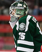 James Kruger (Dartmouth - 35) - The Harvard University Crimson tied the visiting Dartmouth College Big Green 3-3 in both team's first game of the season on Saturday, November 1, 2014, at Bright-Landry Hockey Center in Cambridge, Massachusets.