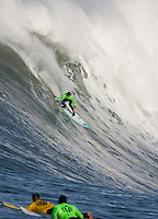 Grant Twiggy Baker. Mavericks Surf Contest in Half Moon Bay, California on February 13th, 2010.