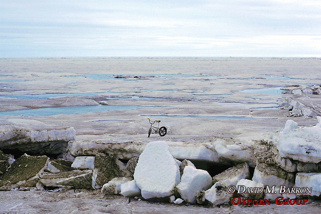 Bicycle On Arctic Ocean Ice Pack