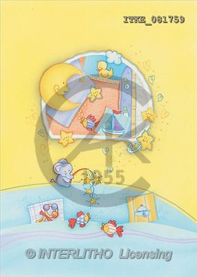 Isabella, BABIES, paintings, moon, boat, fishes(ITKE081759,#B#) bébé, illustrations, pinturas ,everyday
