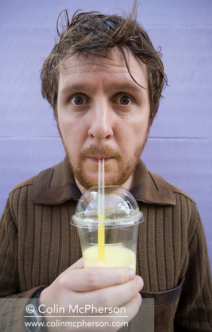 British actor, comedy writer and performance poet Tim Key, pictured in Edinburgh where he is performing in his one man show entitled 'Masterslut'. In 2009, he was the winner of the Edinburgh Comedy Award, the most prestigious award for comedians appearing at the Edinburgh Festival Fringe. The Edinburgh Festival and Fringe is the largest arts festival in the world and takes place annually..