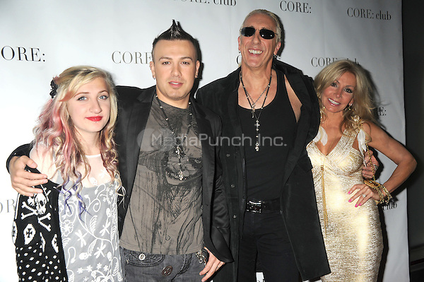 Dee Snider and Suzette Snider with children at the 'Celebrity Apprentice' Panel Discussion at The Core Club on May 22, 2012 in New York City.. Credit: Dennis Van Tine/MediaPunch
