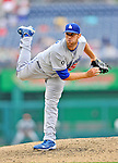5 September 2011: Los Angeles Dodgers pitcher Josh Lindblom on the mound against the Washington Nationals at Nationals Park in Los Angeles, District of Columbia. The Nationals defeated the Dodgers 7-2 in the first game of their 4-game series. Mandatory Credit: Ed Wolfstein Photo