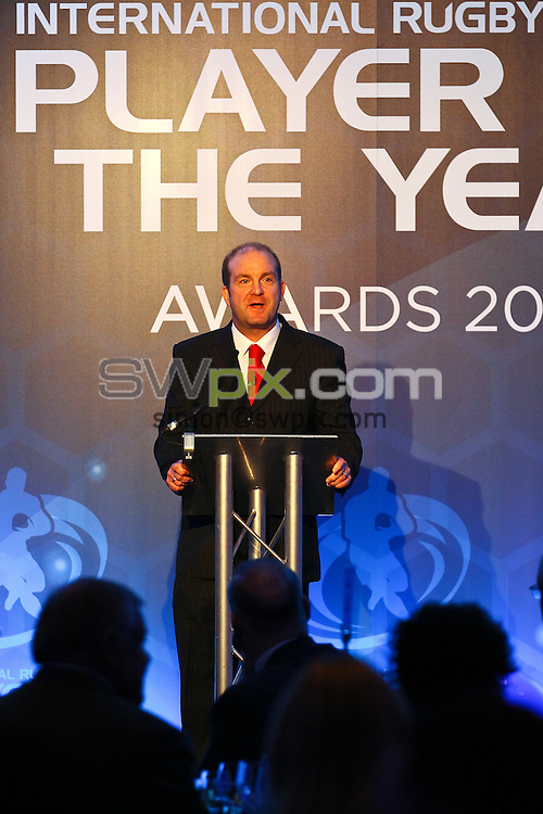 Picture by Alex Whitehead/SWpix.com - Rugby League - 2013 Rugby League World Cup - International Rugby League Player of the Year Awards 2013 - The Lowry Hotel, Manchester, England - 27/11/13 - Dave Woods.