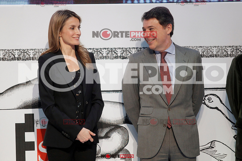 Princess Letizia of Spain attends the 'El Barco de Vapor' literature awards in presence of the President of the Madrid Region Jose Ignacio Gonzalez.April 9, 2013.(ALTERPHOTOS/Acero) /NortePhoto