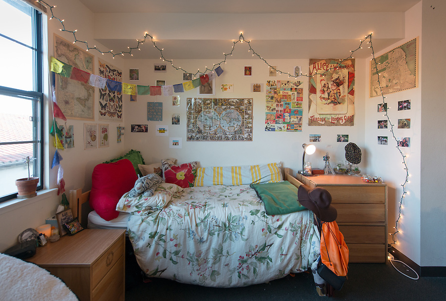 Berkus Hall residence hall student room, Oct. 1, 2014.<br />