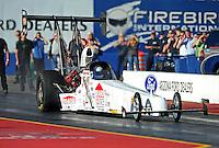 Jan 24, 2009; Chandler, AZ, USA; NHRA top alcohol dragster driver Courtney Force during testing at the National Time Trials at Firebird International Raceway. Mandatory Credit: Mark J. Rebilas-