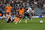 Preston North End 1 Reading 0, 19/08/2017. Deepdale, Championship. THome team midfielder Daniel Johnson (right) presses for a second goal in the second-half as Preston North End take on Reading in an EFL Championship match at Deepdale. The home team won the match 1-0, Jordan Hughill scoring the only goal after 22nd minutes, watched by a crowd of 11,174. Photo by Colin McPherson.