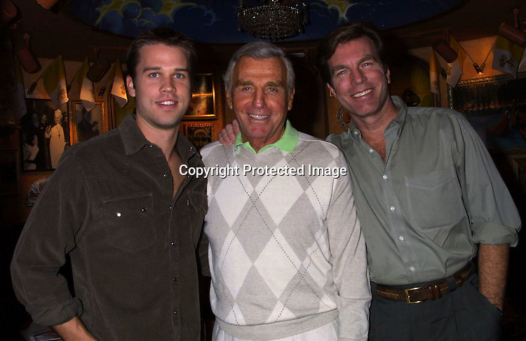 © 2003 KATHY HUTCHINS / HUTCHINS PHOTO.LYNDSY FONSECA SWEET 16 BIRTHDAY PARTY.Buca di Beppo Resturant.ENCINO, CA.JANUARY 7, 2003..RYAN BROWN.JERRY DOUGLAS.PETER BERGMAN