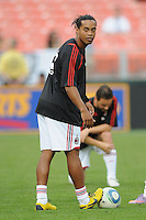 AC Milan forward Ronaldinho (80) DC United defeated AC. Milan 3-2 at RFK Stadium, Wednesday May 26, 2010.