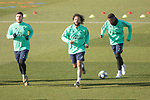 Real Madrid's  Jovic, Marcelo and Vinicius Jr. during training session. <br /> November 25 ,2019.<br /> (ALTERPHOTOS/David Jar)