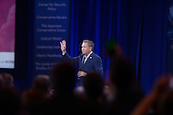 National Harbor, MD - March 4, 2016: Presidential candidate and Ohio Governor John Kasich waves as he enters the stage before addressing attendees of the 2016 Conservative Political Action Conference, hosted by the American Conservative Union, at the Gaylord National Hotel in National Harbor, MD, March 4, 2016.   (Photo by Don Baxter/Media Images International)