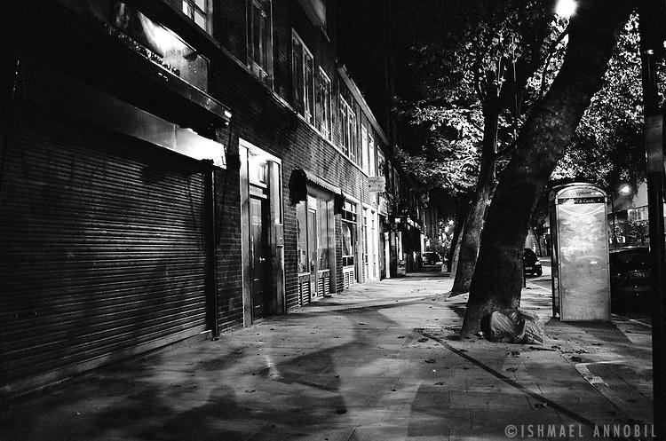 Eversholt Street at night, Camden Town.