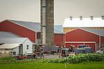 Amish gathering and barn raising. Central Pennsylvania.