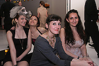 Graduating fashion designers (L-R) Joana Rigol, Stephanie Chudy, Emma Rowe, and Nadia Mohamed at the Pratt 2011 fashion show and cocktail reception, honoring Hamish Bowles, April 27 2011.