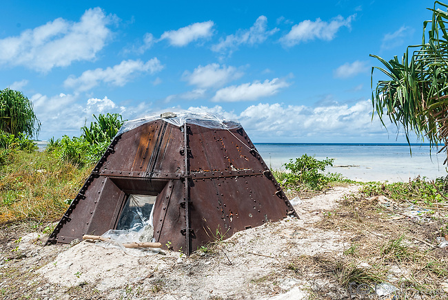 Steel pillbox on Tarawa, Kiribati