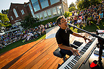 Piano Fondue performs during Knights On The Fox at St. Norbert College in De Pere, Wis., on July 19, 2016.