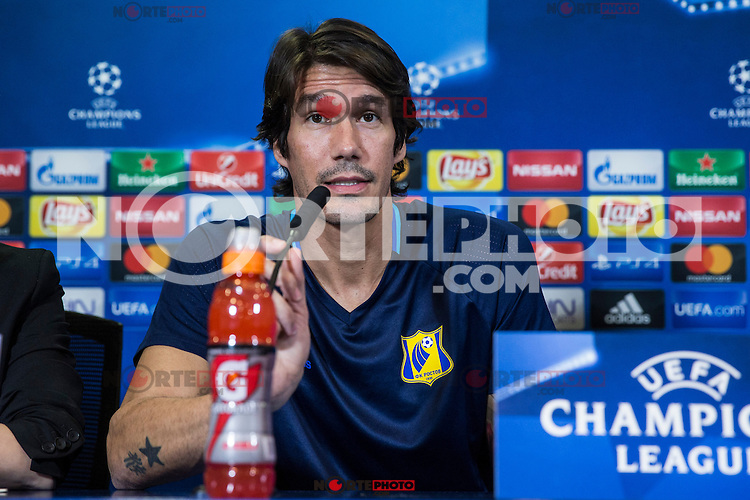 Rostov's Cesar Navas during the press conference before the match of UEFA Champions League between Atletico de Madrid and FC Rostov, at Vicente Calderon Stadium,  Madrid, Spain. October 31, 2016. (ALTERPHOTOS/Rodrigo Jimenez) /NORTEPHOTO.COM