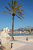 Sculpture and palm tree at the promenade of Repic beach<br /> <br /> Escultura y palmera en el paseo de la Playa Repic<br /> <br /> Skulptur und Palme auf der Promenade am Repic Strand<br /> <br /> 3008 x 2000 px<br /> 150 dpi: 50,94 x 33,87 cm<br /> 300 dpi: 25,47 x 16,93 cm