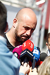 Spain's Pepe Reina arrives to the national football team stage. March 20,2017.(ALTERPHOTOS/Acero)