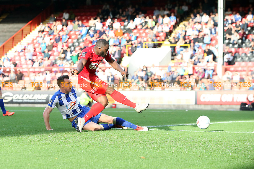 O's James Alabi shot during Leyton Orient vs Hartlepool United, Vanarama National League Football at The Breyer Group Stadium on 13th October 2018